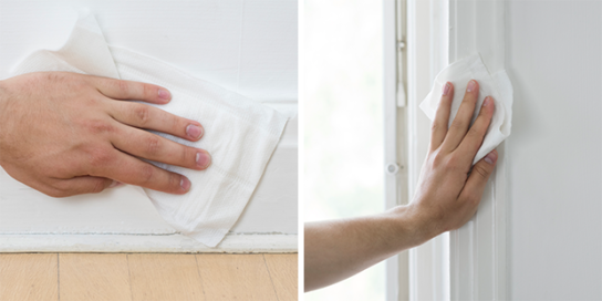 Malingsklar vådmoppe i hånden