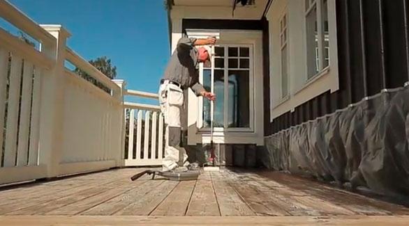 Behandle terrasse - Oliering af terrasse