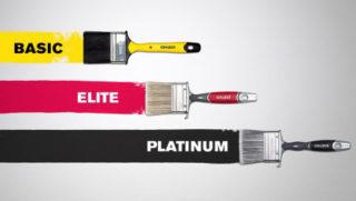 Kvalitetsniveauer pensler god-bedre-bedst