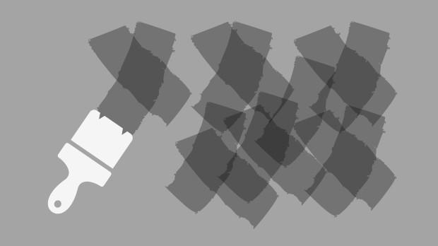 Kalkmaling krydsteknik