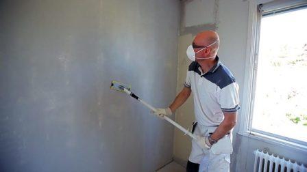 Slibe spartlet væg