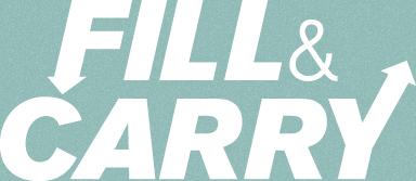 Fill&Carry logo med baggrund